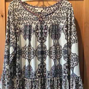 Style & Co Beautiful XL Purple Top Bell Sleeve